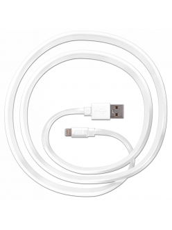 JUST Freedom Lightning USB (MFI) Cable White (LGTNG-FRDM-WHT)