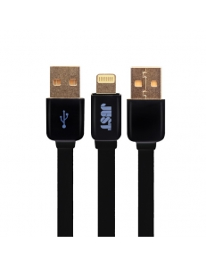 JUST Rainbow Lightning USB Cable Black (LGTNG-RNBW-BLCK)