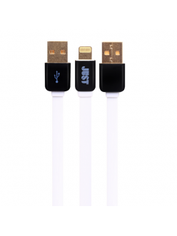 JUST Rainbow Lightning USB Cable White (LGTNG-RNBW-WHT)