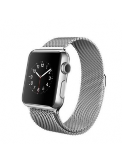 Apple Watch 38mm Stainless Steel Case with Milanese Loop (MJ322)