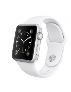 Apple Watch Sport 38mm Silver Aluminum Case with White Sport Band (MJ2T2)