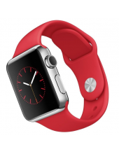 Apple Watch Sport 38mm with Red Sport Band Silver (MLLD2)