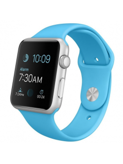 Apple Watch Sport 42mm Blue Sport Band Silver (MLC52)