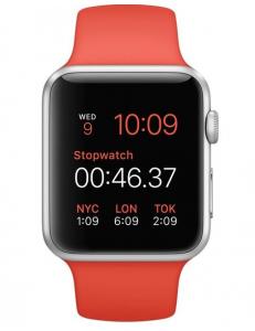 Apple Watch Sport 42mm Orange Sport Band Silver (MLC42)