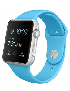 Apple Watch Sport 42mm Silver Aluminum Case with Blue Sport Band (MJ3Q2)