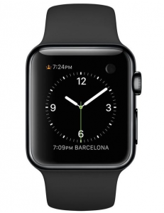 Apple Watch Steel 38mm Black Sport Band Space Black (MLCK2)