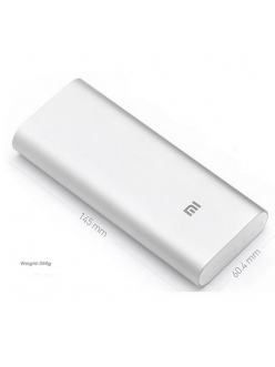 XIAOMI Mi Power Bank 16000 mAh (3.6A, 2USB) Silver (NDY-02-AL-SL)