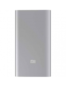 XIAOMI Mi Power Bank Ultra Thin 5000 mAh (2.1A, 1USB) Silver (NDY-02-AM-SL)