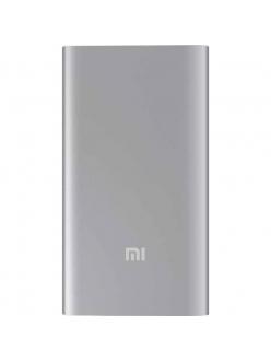 XIAOMI Mi Power Bank Ultra Thin 5000 mAh (2.1A, 1USB) Silver (NDY-02-AM-SL)