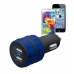 Trust Dual Smartphone Car Charger - blue