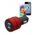 Trust Dual Smartphone Car Charger - red