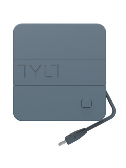 Tylt Energi 6K+ Smart Travel Charger + PowerBank 6000mAh with Lightning cable Gray (IP5NRG6TCGY-EUK)