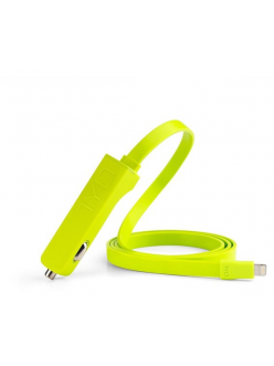 Tylt BAND Car Charger Lightning Green (LIT-RIBBNG-T)