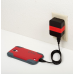 Tylt Wall Travel Charger 4,2A Dual USB Port Black-Red (USBTC42RD-EUK)