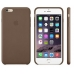 Чехол Apple Leather Case Olive Brown (MGQR2ZM/A) for iPhone 6 Plus