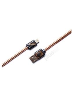 Кабель PlusUs Lifestar Premium Copper Foil (LST2107100) Lightning to USB Cable 1m Пожизненная Гарантия от Производителя