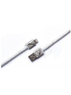 Кабель PlusUs Lifestar Premium Silver Press (LST2110100) Lightning to USB Cable 1m Пожизненная Гарантия от Производителя