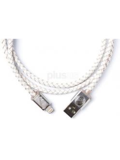 Кабель PlusUs Lifestar Premium Cross White (LST2112100) Lightning to USB Cable 1m Пожизненная Гарантия от Производителя