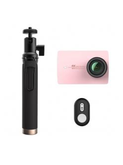 Экшн-камера Xiaomi Yi 4K Rose Gold Travel International Edition + Remote control button