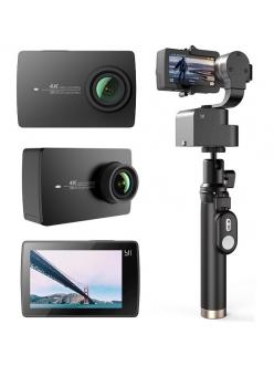 Экшн камера Xiaomi Yi 4K Night Black + YI Handheld Gimbal