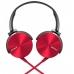 Наушники SONY MDR-XB450AP Red