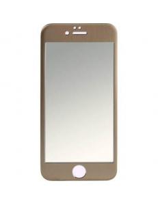 Титановое цветное защитное стекло Apple iPhone 6/6s Gold