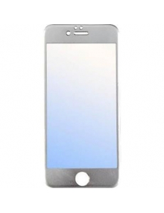 Титановое цветное защитное стекло Apple iPhone 6/6s Silver